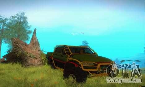 Uaz Patriot Pickup for GTA San Andreas inner view