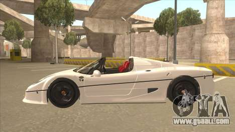 Ferrari F50 GT TT Black Revel for GTA San Andreas inner view