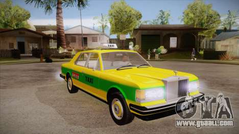 Rolls-Royce Silver Spirit 1990 Taxi for GTA San Andreas back view