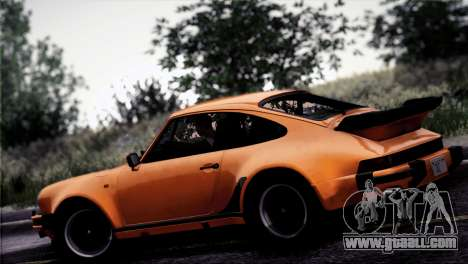 Porsche 911 Turbo 3.3 Coupe 1982 for GTA San Andreas bottom view
