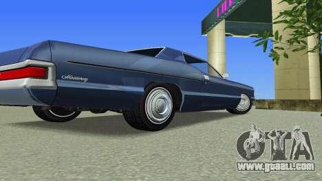 Mercury Monterey 1972 for GTA Vice City back view