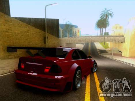 BMW M3 E46 GTR for GTA San Andreas side view