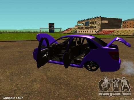 Lada Granta for GTA San Andreas back view