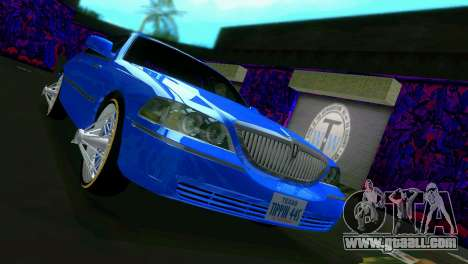 Lincoln Town Car Tuning for GTA Vice City back left view