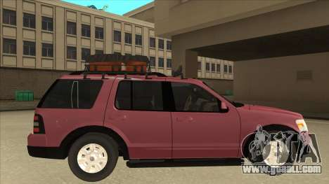 Ford Explorer 2011 for GTA San Andreas back left view