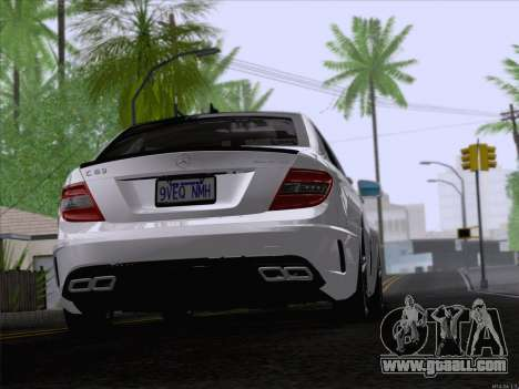Mercedes-Benz C 63 AMG for GTA San Andreas back left view
