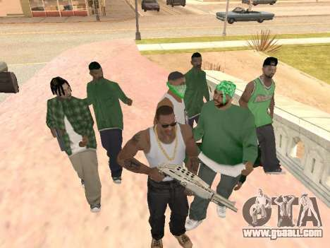 Three guys in a Groove street gang for GTA San Andreas