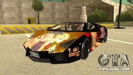 Lamborghini RR Kyoukai No Kanata Itasha for GTA San Andreas