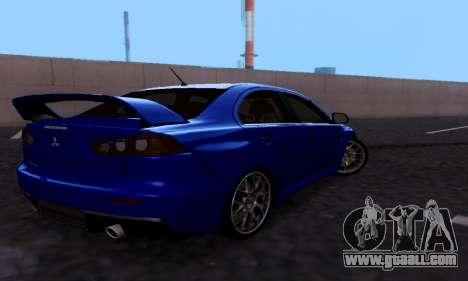 Mitsubishi Lancer Evo Drift Edition for GTA San Andreas right view