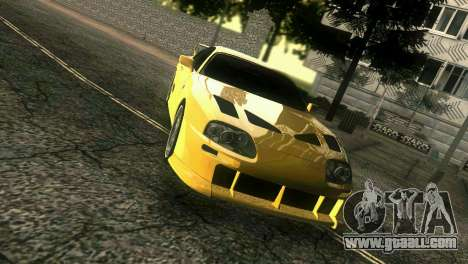 Toyota Supra TRD for GTA Vice City right view
