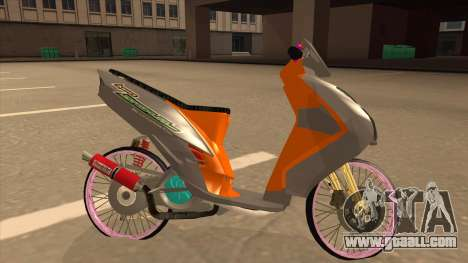 Yamaha Mio Soul 2 for GTA San Andreas left view