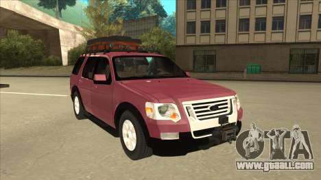 Ford Explorer 2011 for GTA San Andreas left view