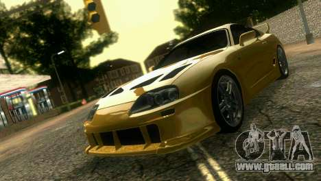 Toyota Supra TRD for GTA Vice City back left view