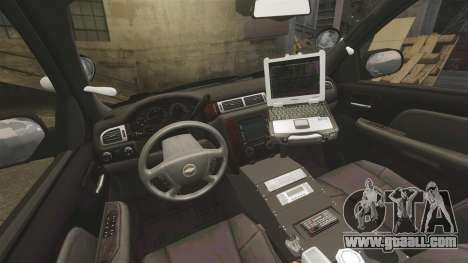 Chevrolet Tahoe 2010 PPV SFPD v1.4 [ELS] for GTA 4 back view