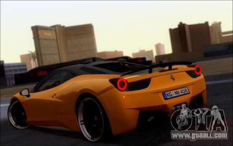 Ferrari 458 Italia Novitec Ross for GTA San Andreas left view