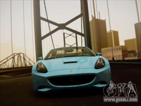 Ferrari California 2009 for GTA San Andreas inner view