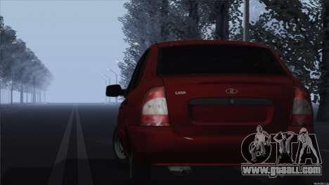 VAZ 1118 Kalina for GTA San Andreas back left view