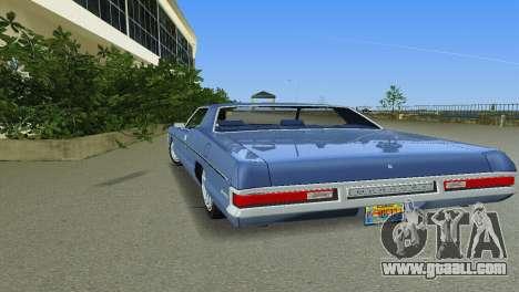 Mercury Monterey 1972 for GTA Vice City inner view