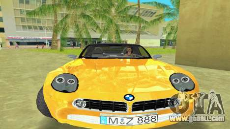 BMW Z8 for GTA Vice City back left view