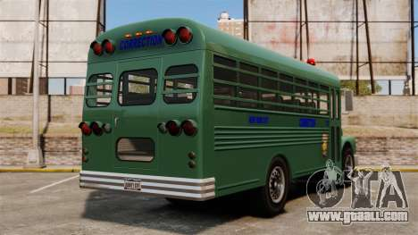 The prison bus, New York City for GTA 4 back left view