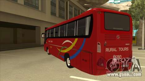 KINGLONG XMQ6126Y - Rural Tours 2780 for GTA San Andreas back view
