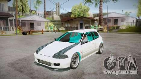 Honda Civic (EG6) Drag Style for GTA San Andreas