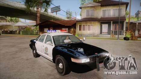 Vapid GTA V Police Car for GTA San Andreas back view