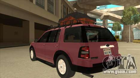 Ford Explorer 2011 for GTA San Andreas back view