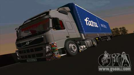 Kogel trailer for Volvo FM16 for GTA San Andreas left view