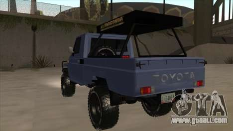 Toyota Machito Pick Up 2009 for GTA San Andreas back view
