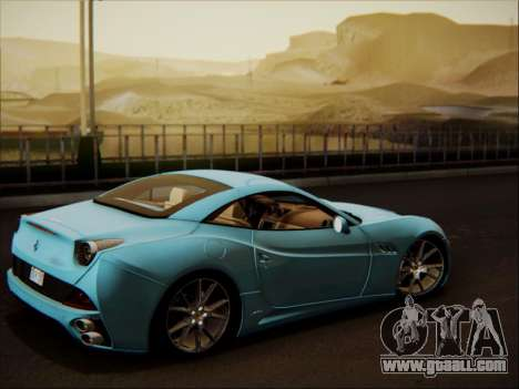 Ferrari California 2009 for GTA San Andreas side view