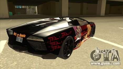 Lamborghini RR Kyoukai No Kanata Itasha for GTA San Andreas right view