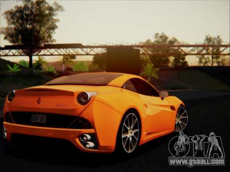 Ferrari California 2009 for GTA San Andreas upper view