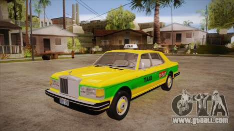 Rolls-Royce Silver Spirit 1990 Taxi for GTA San Andreas
