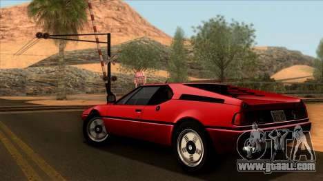 BMW M1 (E26) 1979 for GTA San Andreas left view