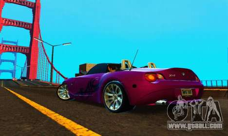 BMW Z4 2005 for GTA San Andreas back left view