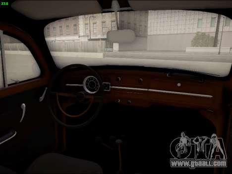 Volkswagen Beetle for GTA San Andreas upper view
