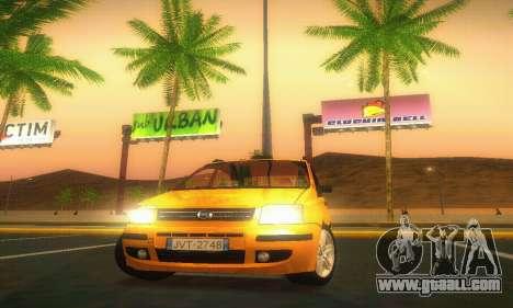 Fiat Panda Taxi for GTA San Andreas inner view