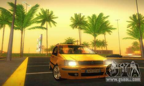 Fiat Panda Taxi for GTA San Andreas back view