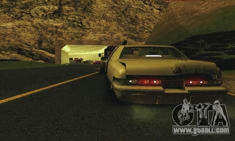 Buick Roadmaster Broken for GTA San Andreas inner view
