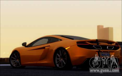 Mclaren MP4-12C for GTA San Andreas back left view