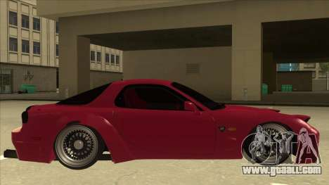 Mazda RX7 FD3S Rocket Bunny for GTA San Andreas back left view