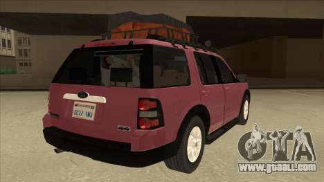 Ford Explorer 2011 for GTA San Andreas right view
