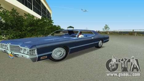 Mercury Monterey 1972 for GTA Vice City left view