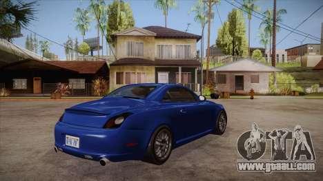 Lexus SC430 2JZ-GTE Black Revel for GTA San Andreas right view