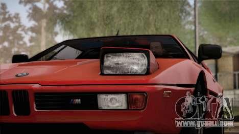BMW M1 (E26) 1979 for GTA San Andreas interior