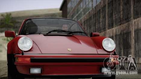 Porsche 911 Turbo 3.3 Coupe 1982 for GTA San Andreas interior