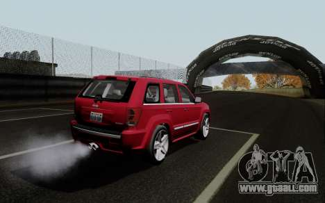 Jeep Grand Cherokee SRT10 for GTA San Andreas back left view