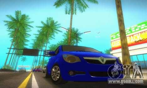Vauxhall Agila 2011 for GTA San Andreas back left view