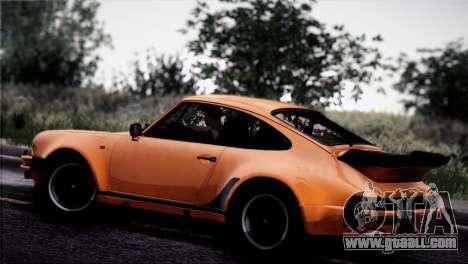 Porsche 911 Turbo 3.3 Coupe 1982 for GTA San Andreas upper view